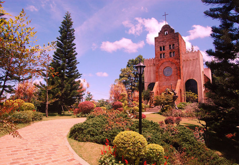 1000 images about our venue transfiguration chapel for Garden wedding designs philippines